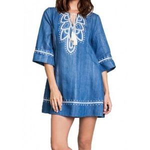 🆕 Umgee Women's Embroidered Denim Dress